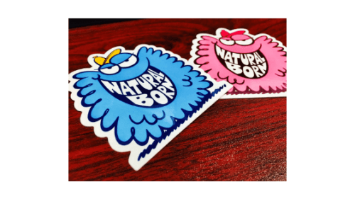 2x2 custom die cut stickers