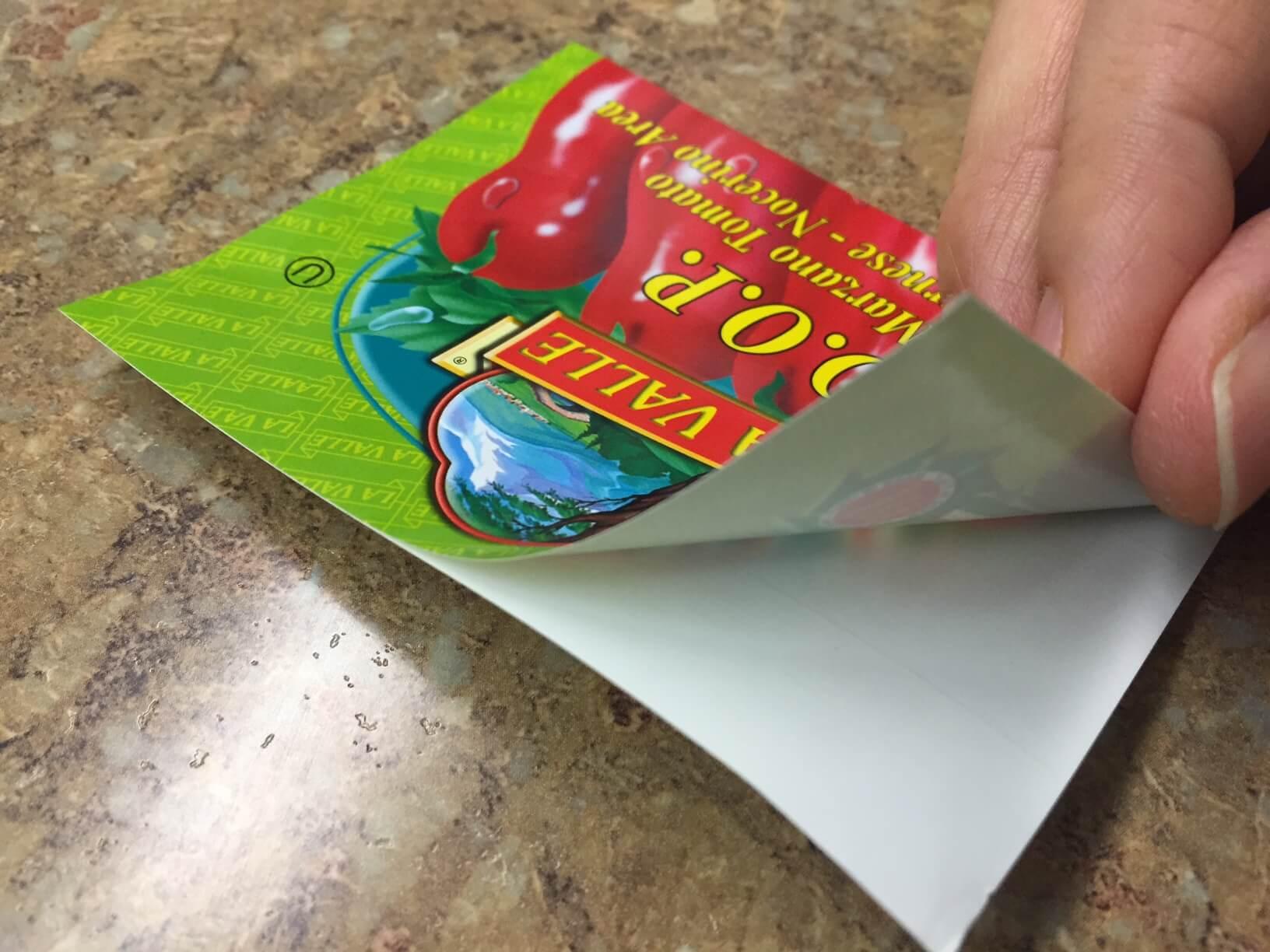sticker business card