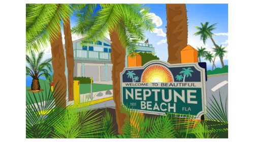 neptune beach sticker